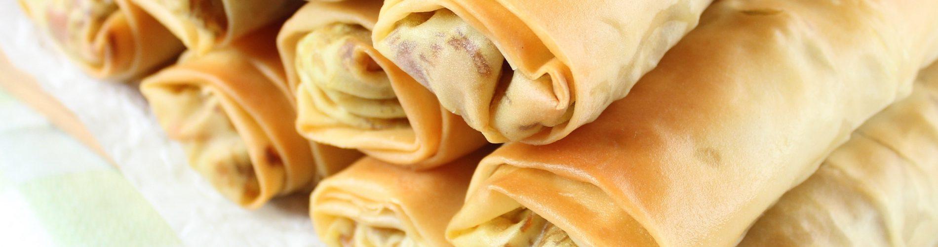 Hartige hapjes | loempia's met kip en Chinese wokgroenten