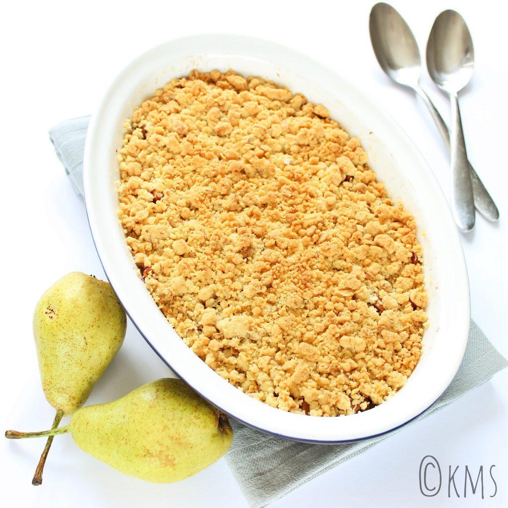 Zoete hapjes | appel peer crumble