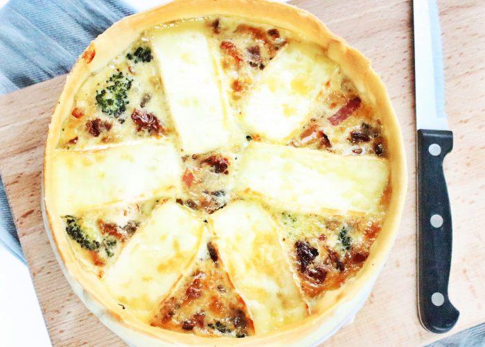 Avondeten | quiche met brie, broccoli en spekjes