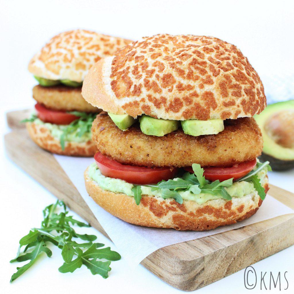 kabeljauwburgers met avocado