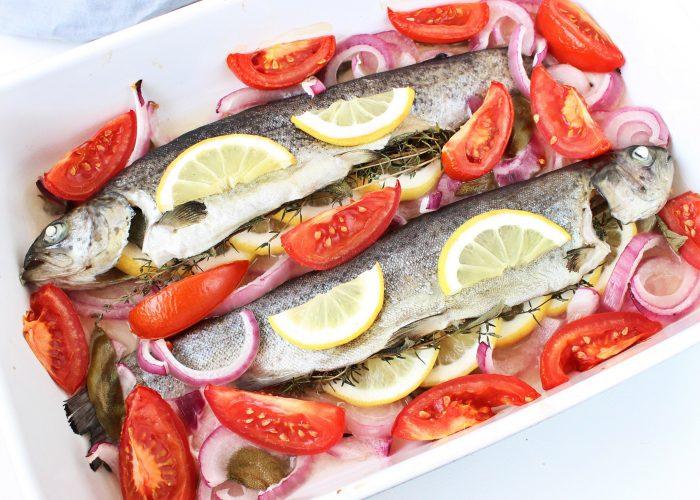 Vis | regenboogforel uit de oven