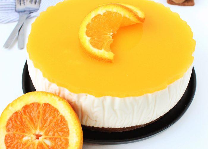 Kwarktaart met sinaasappel speculaas en Licor 43