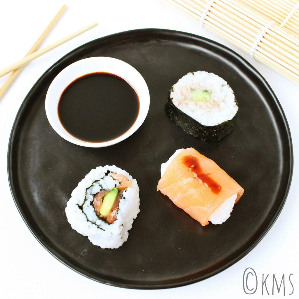 Vis | 3x sushi: nigiri, maki en uramaki