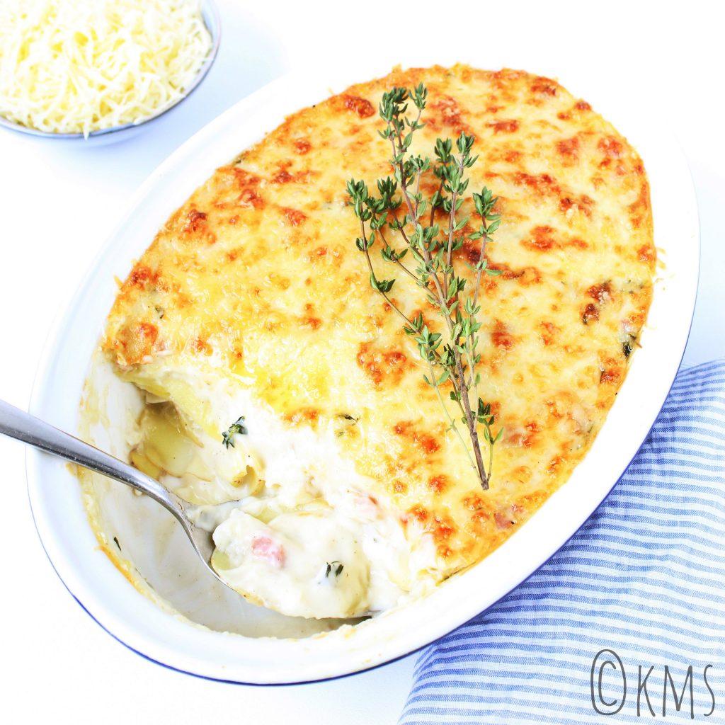 Avondeten | aardappelgratin met gruyère kaas