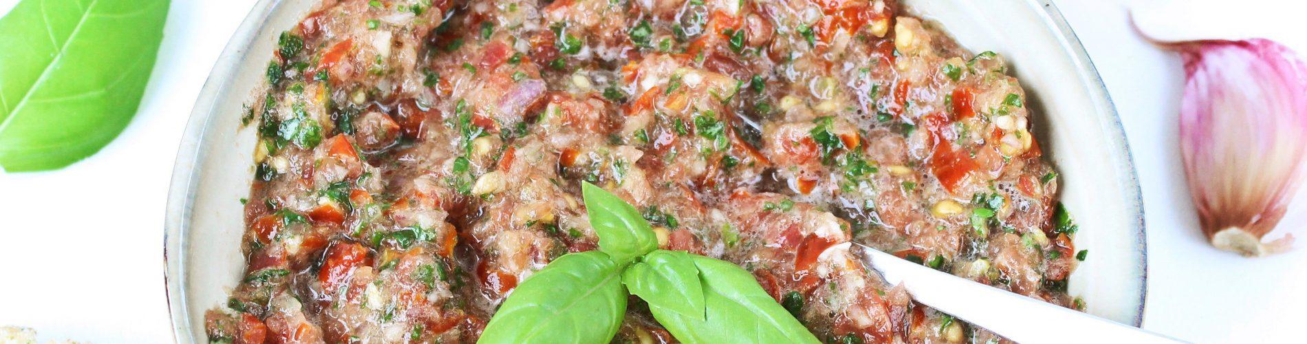 Tomatensalsa op toast
