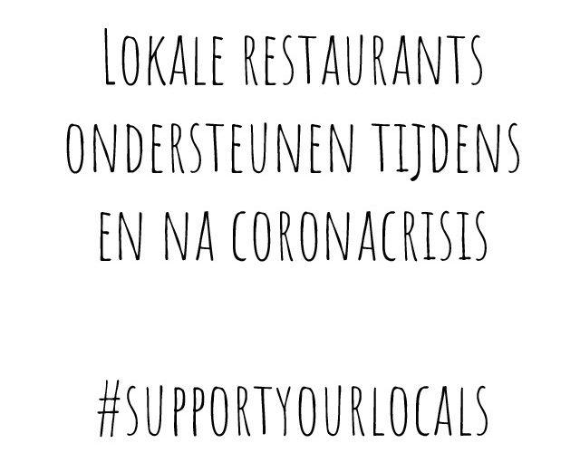 Lokale restaurants ondersteunen tijdens en na coronacrisis