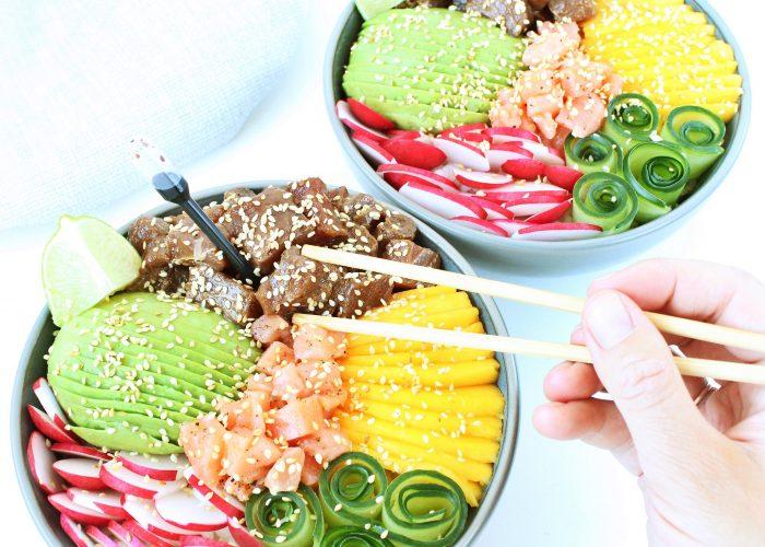 Poké bowl met verse tonijn