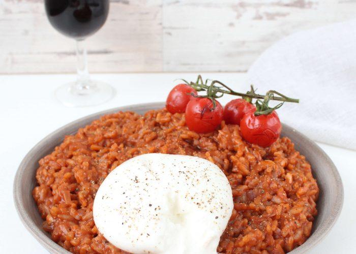 Risotto met tomaten en burrata