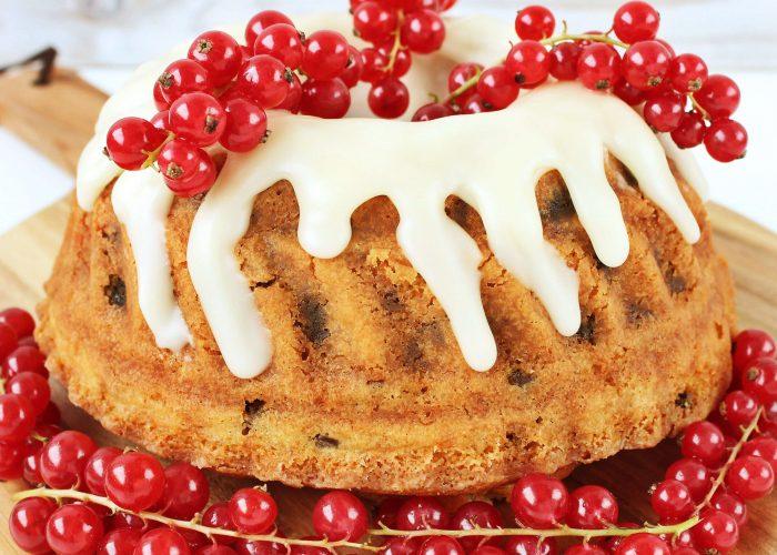 Tulband cake met rum rozijnen