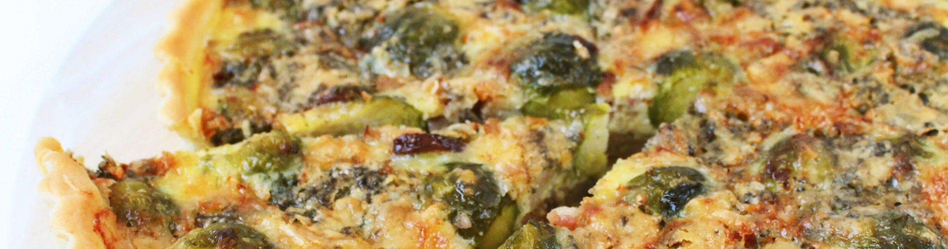 Spruitjes quiche met blauwe kaas