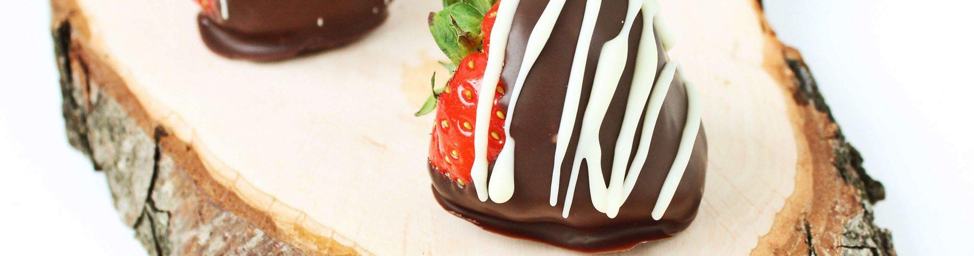 Aardbeien met chocolade