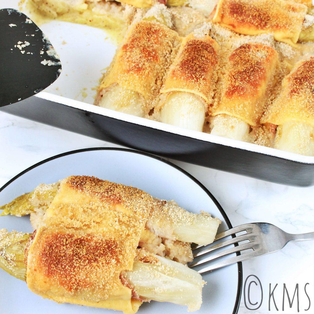Witlof met ham en kaas