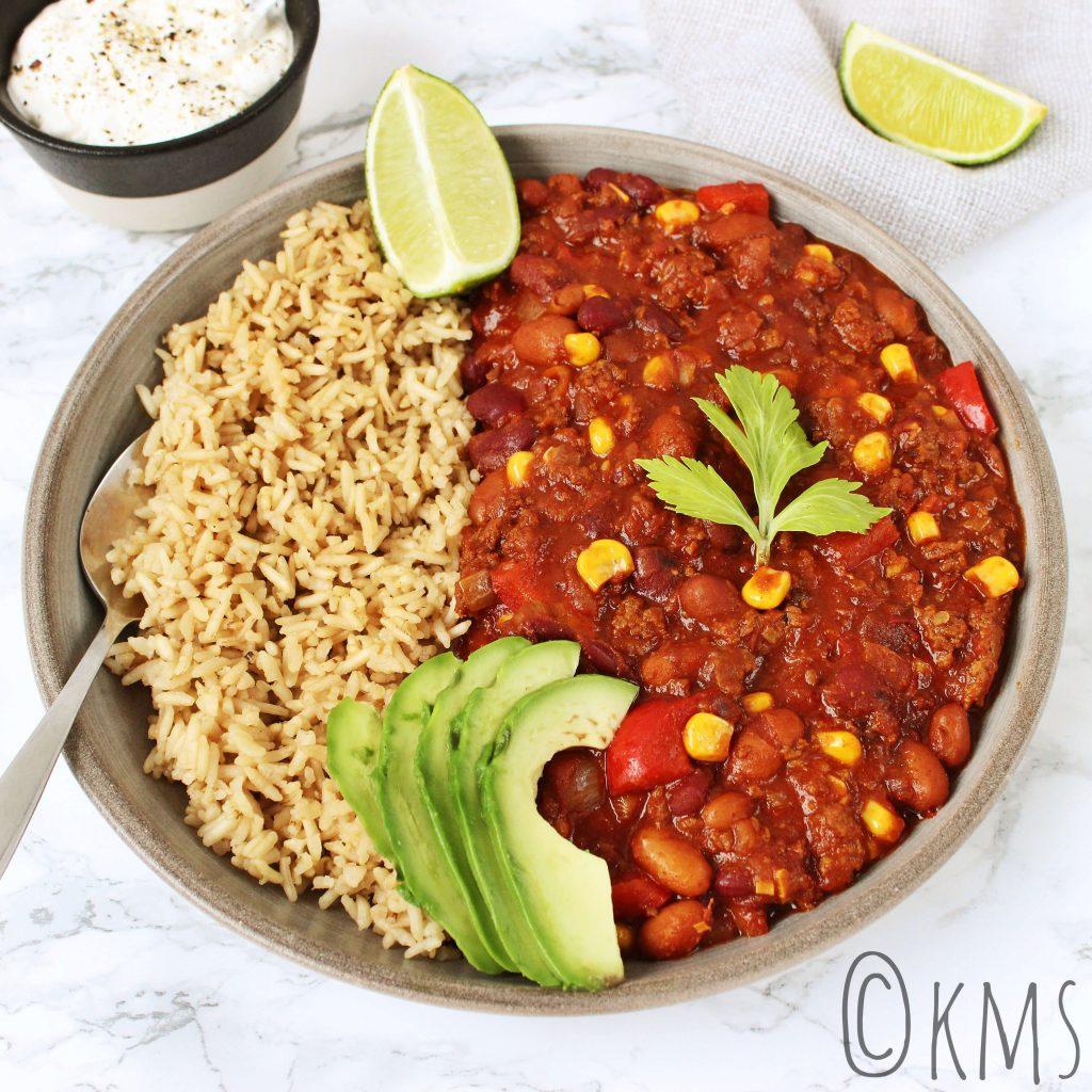 Chili con carne met rijst