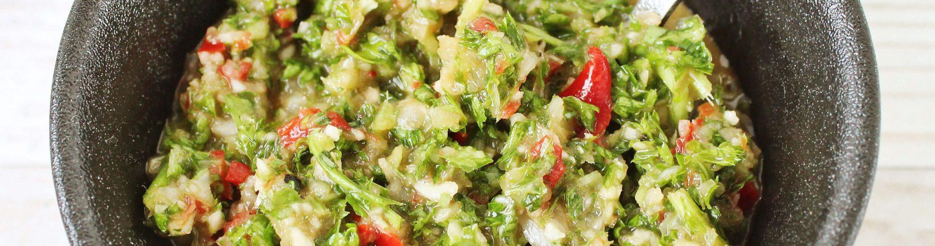 Chimichurri - salsa bij rundvlees
